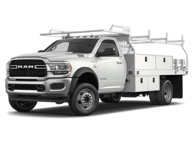 New 2019 RAM 4500 Chassis Cab 12' PLATFORM BODY WITH STAKES