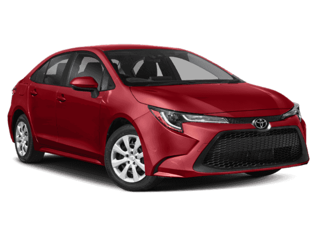 Stock #: 38860 Barcelona Red Metallic 2020 Toyota Corolla LE 4D Sedan in Milwaukee, Wisconsin 53209